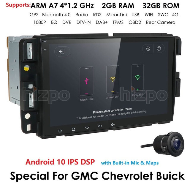 Android 10.0 DSP IPS 4G 64G Car Multimedia Player Navigation Stereo Radio For GMC Sierra Yukon Chevrolet Chevy Tahoe Suburban Pc