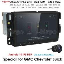 Lecteur multimédia de voiture Android 10.0 DSP IPS 4G 64G Navigation Radio stéréo pour GMC Sierra Yukon Chevrolet Chevy Tahoe banlieue Pc