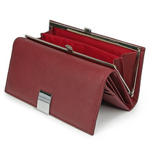 Genuine Leather Women Wallet Female Long Clutch Money Bag  Luxury Brand Real Leather Ladies Coin Purse Wife's Gift