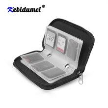 Чехлы для карт памяти kebidumei SDHC MMC CF, сумка для хранения карт памяти, сумка для переноски, защитная коробка для карт памяти Micro SD