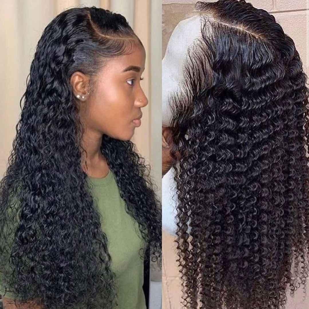 Su dalgası peruk kısa kıvırcık dantel ön İnsan saç peruk siyah kadınlar için bob uzun derin frontal brezilyalı peruk ıslak ve dalgalı hd tam
