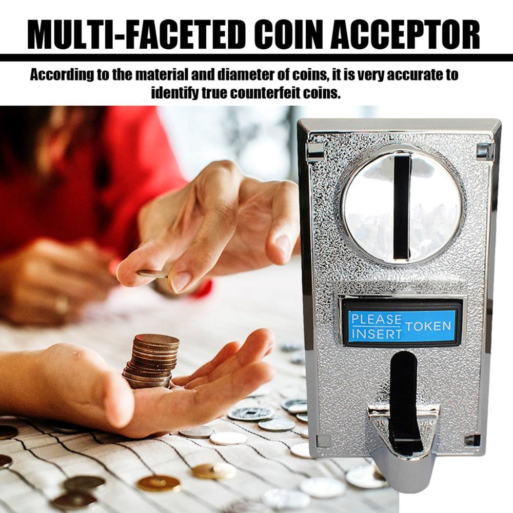 Durable Programable Plastic Multi Coin Acceptor Electronic Roll Down Coin Acceptor Selector Mechanism Side Coin Selector