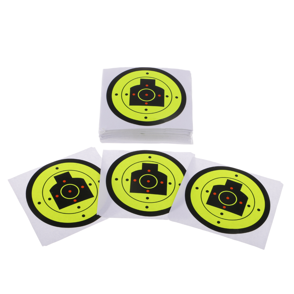 200pcs Dia 7.5cm/3inch Shooting Target Paper Reactive Splatter Targets For Precision Practice