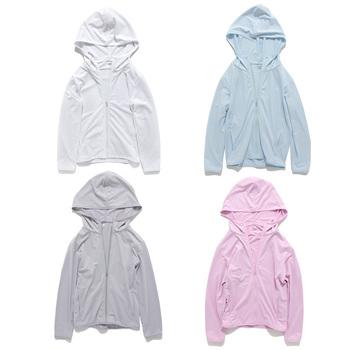2021 letnie chłopcy dziewczęta oddychająca kurtka plażowa z długimi rękawami urocza dziecięca bluza z kapturem odzież chroniąca przed słońcem zużyta kurtka dla dzieci tanie i dobre opinie CN (pochodzenie) Dobrze pasuje do rozmiaru wybierz swój normalny rozmiar Dziewczyny POLIESTER Stałe Windbreaker for children