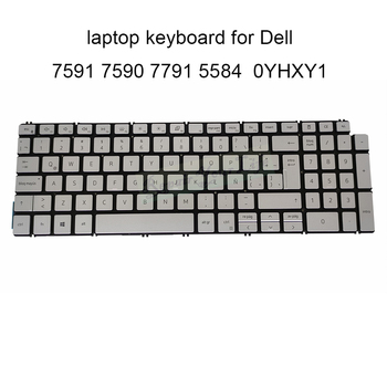 genuine us english layout keyboard for dell inspiron 15 7537 15 7537 15 7000 7000 laptop keyboards backlight silver gray frame YHXY1 Backlight keyboard for Dell Inspiron 15 7591 5584 7590 7791 Replacement Keyboards LA Latin silver CN 0YHXY1 CH200 new work