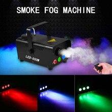 500W Rook Fog Machine Led Dj Party Stage Light Fog Machine Met Draadloze Afstandsbediening Portable Kleurrijke Stage Fogger ejector