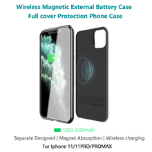 Magnetic Battery Case Power Bank 5500mAh Wireless Charger For iphone 11 pro max