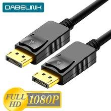 Dp1.2 1080 p 60 hz cabo de áudio video do cabo de displayport dp1.2 1.8 p do dp 3 5 m cabo de porta de exibição dp ao cabo masculino do dp para o projetor de hdtv
