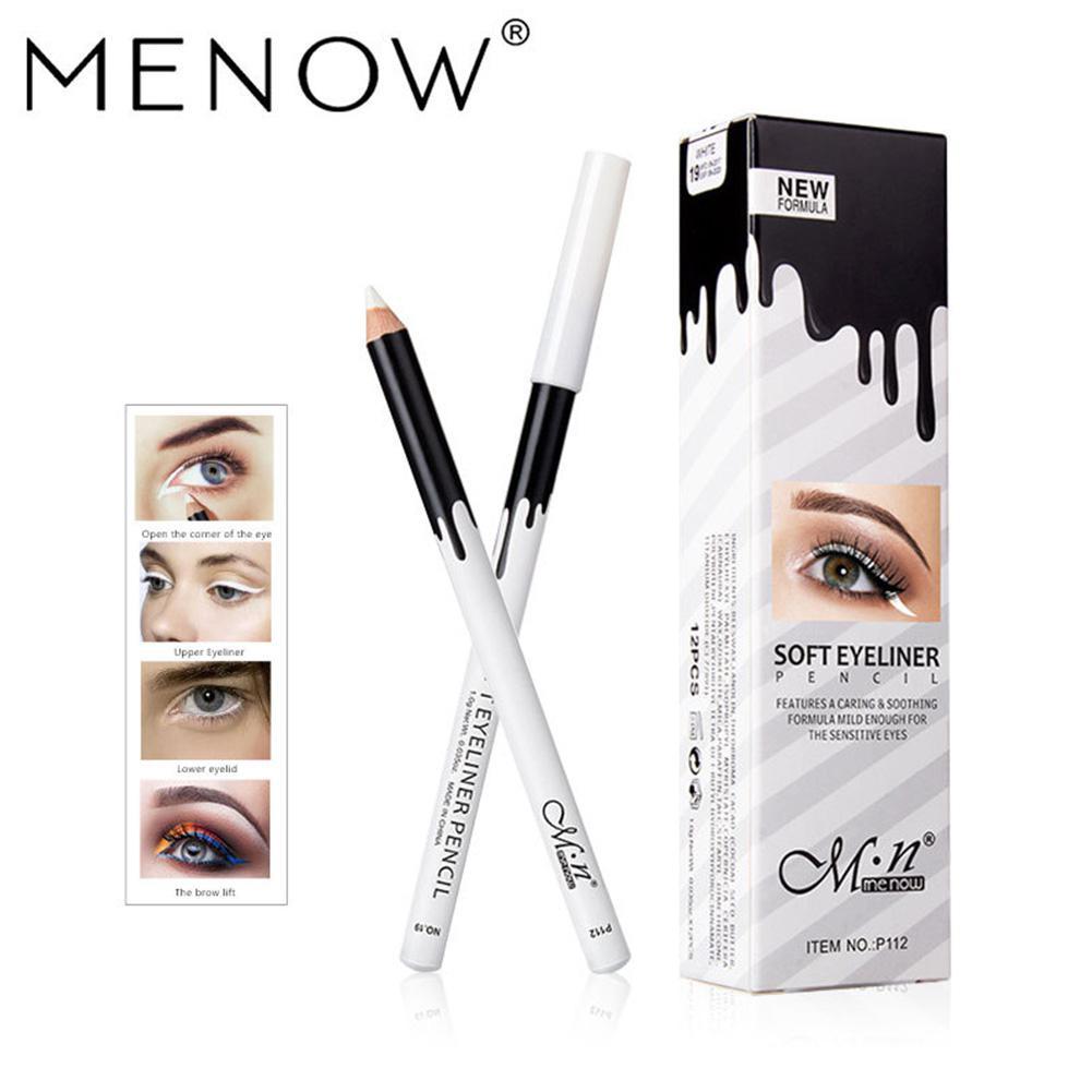Blue ZOO 12 pcs/set Waterproof White Eyes Liner Pencils Eyeliner Makeu