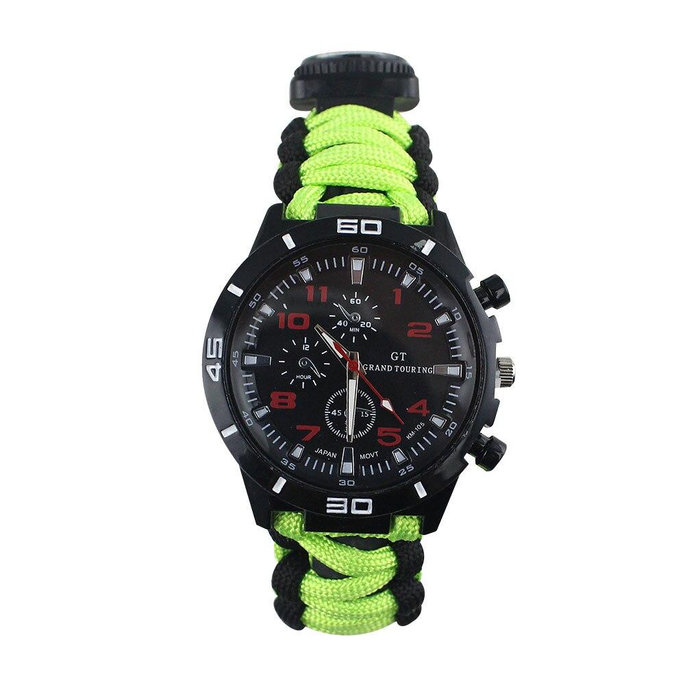 Umbrella Rope Camouflage Sports Waterproof MEN'S Watch Wilderness Survival Multifunctional Compass Hooks Suit Watch