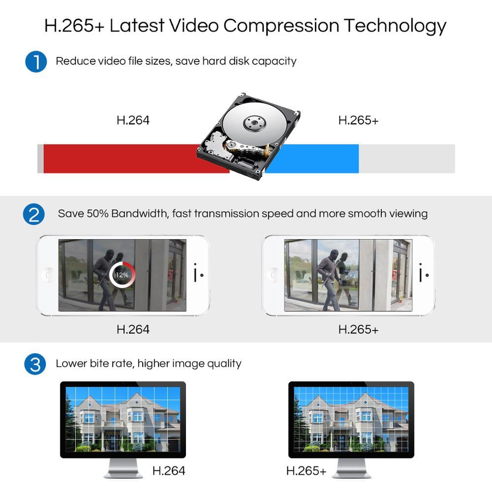 Sistema CCTV ZOSI 8CH 4 Uds. 1080p cámara de seguridad exterior resistente a la intemperie DVR Kit día/noche Sistema de videovigilancia para el hogar - 5
