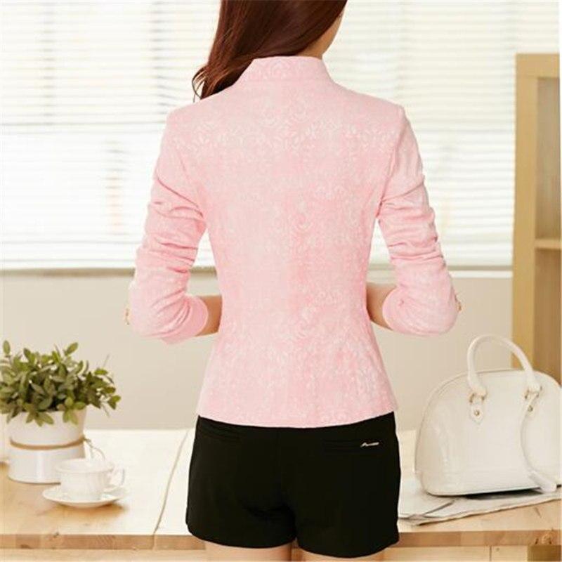 Spring Women Blazers And Jackets New Korean Style Slim Blazer Feminino Manga Longa Long Sleeve Women Blazer CJ005