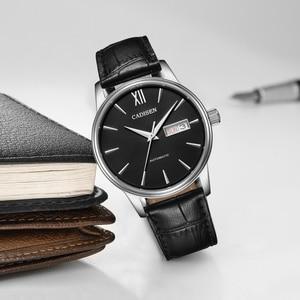 Image 3 - CADISEN Automatische Horloge Mannen Mechanische Lederen Horloges Top Luxe Merk Japan NH36A polshorloge Klok Relogio Masculino
