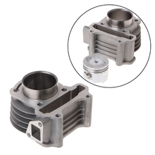 47mm Big Bore Cylinder Piston Kit Rings For Scooter Moped GY6 50 60 80 139QMB athena 072900 47mm diameter aluminum 70cc sport cylinder kit