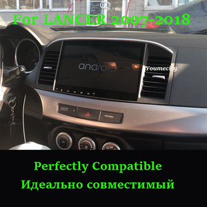 Image 2 - Youmecity Android 9.0 Car DVD Multimedia Player for MITSUBISHI LANCER 2007 2018 9 x 10.1 inch 2DIN Radio headunit Wifi BT RDS