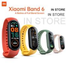 IN STORE Xiaomi Mi Band 6 Smart Bracelet Retina Colorful Screen SpO2 Heart Rate Fitness Tracker Waterproof Miband6 Wrist Watch