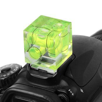 Jeden dwa trójwymiarowy poziomica bąbelkowa do adaptera poziomu kamery do kamer narzędzia pomiarowe tanie i dobre opinie BSIDE CN (pochodzenie) Bubble Level green acrylic