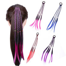 2019 New Headband Girls Twist Braid Rope Simple Rubber Band Hair Accessories Kids Wig Rope Hair Braider Tools Head Bands Wear(China)
