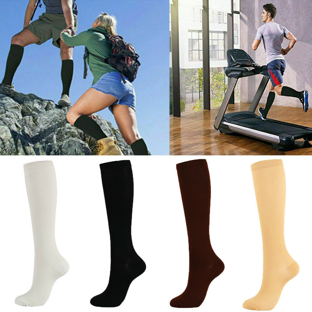 جوارب رياضية الإغاثة ضغط الركبة جوارب الساق الجوارب تشغيل تجريب اللياقة البدنية ألعاب القوى اكسسوارات الإغاثة الألم دعم الجوارب