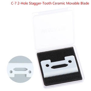 Magic 2-Hole Stagger-Tooth Ceramic Movable Blade Cordless Clipper Replaceable Blade For Wahl Shear Clipper With Box