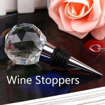 Akcesoria barowe zamknięcia do wina okrągłe z kulami kryształowymi uszczelnienie próżniowe korek do wina strona główna kolekcja wina korek do butelki czerwonego wina tanie i dobre opinie CN (pochodzenie) KRYSZTAŁ Ekologiczne Na stanie Korki do wina 5 cm