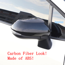 Lapetus Door Side Wing Rearview Mirror Case Decoration Frame Cover Trim Fit For Toyota Corolla 2019 2020 ABS Chrome Carbon Fiber