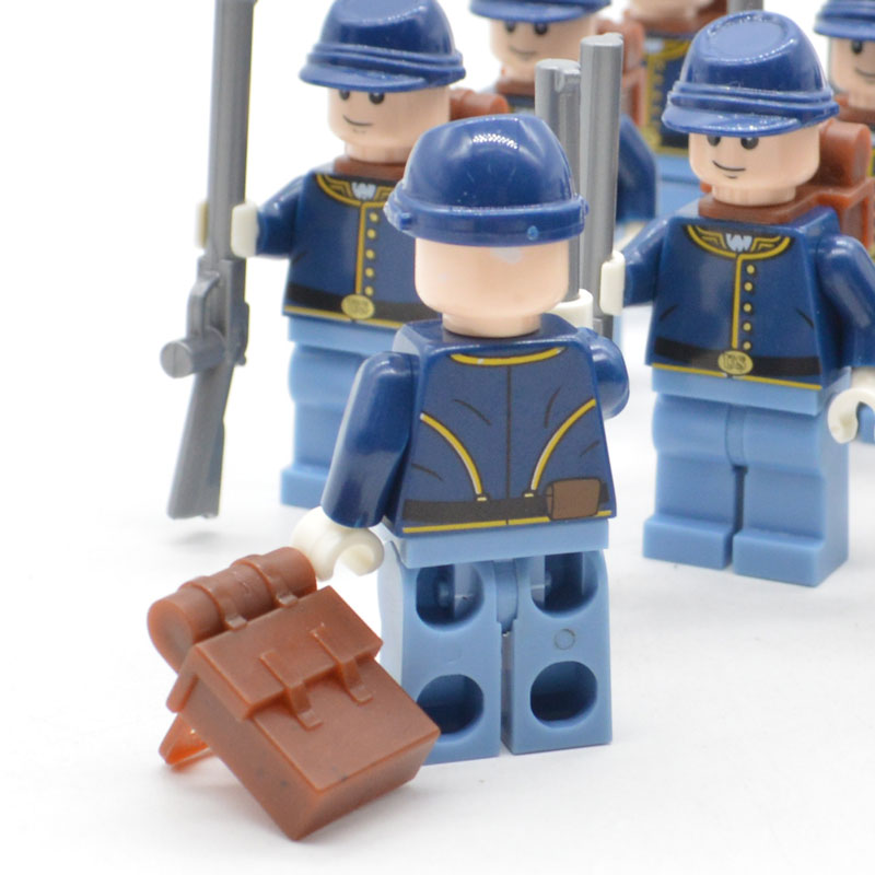 Image 3 - Limited Lot American Civil War Soldier North US Revolutionary War MOC Building Blocks Toy for Children-in Blocks from Toys & Hobbies