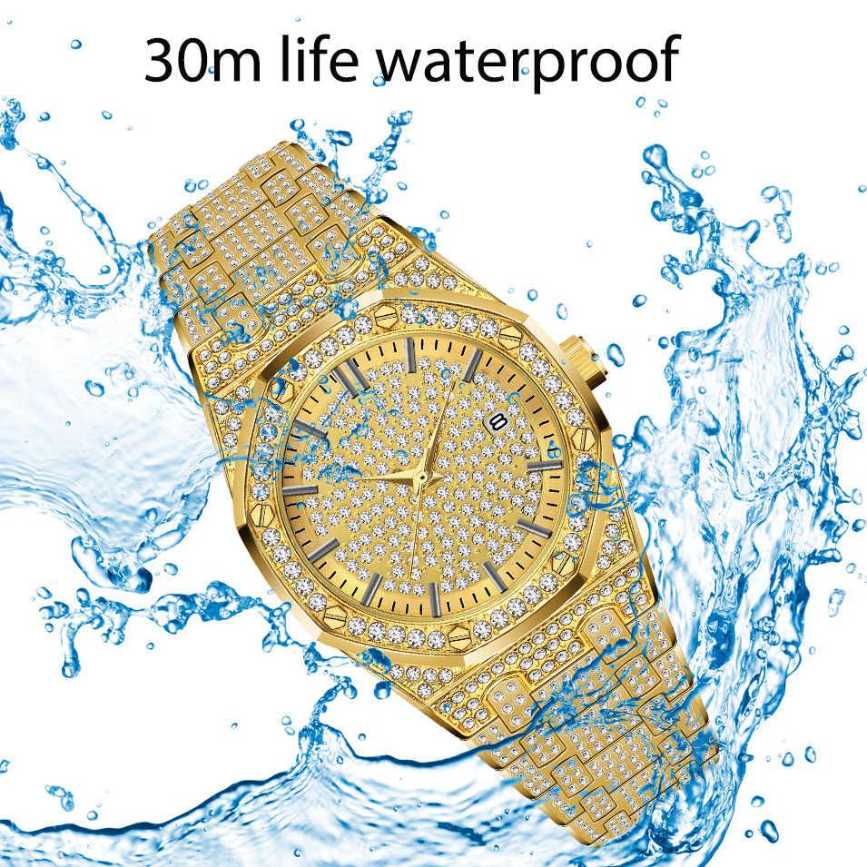 MISSFOX Luxuryนาฬิกาผู้ชายเพชรแบรนด์หรูนาฬิกาข้อมือผู้ชายนาฬิกาแฟชั่นRADOนาฬิกาข้อมือควอตซ์