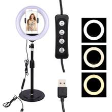 Ring Light Dimmable Multi-function Led Light for Live Streaming with Mobile Phone Beauty Selfie Fill Light(China)
