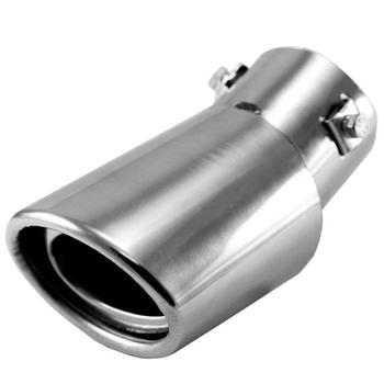 1pc Stainless Steel Exhaust Outlet Tips Car Exhaust Outlet For Car Auto Exhaust Tip Tail Pipe Muffler Outlet Exhaust Pipe