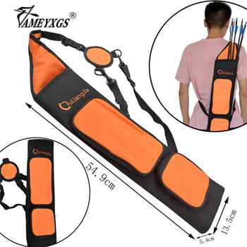 Archery Arrow Quiver Large-capacity Adjustable Shoulder Strap Waist Hip Portable Quivers Arrow For Hunting Shooting Acessories cowhide leather shoulder back large capacity quiver arrow holder for compound recurve bow shooting hunting archery arrow quiver