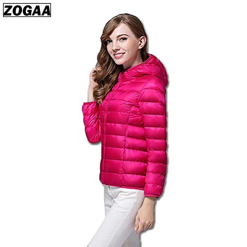 ZOGAA 2019 Women Autumn Winter Jackets Hooded Coat Female Fashion Thin Light Jacket Womens Padded Cotton   Parkas   Casual Basic