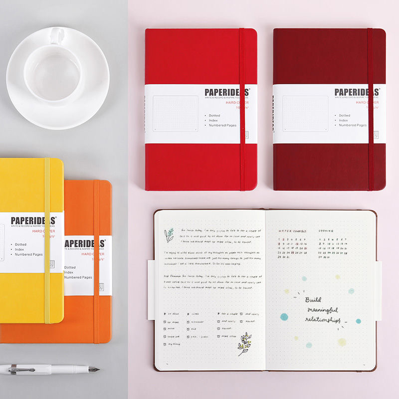Hardcover A5 Bullet Journals Dot Notebook 188 Page 100gsm 5.7x8.2inch Retro Bandage Candy Color Diary Notebook Journal BUJO 2