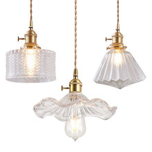Винтажный подвесной светильник из латуни с одной головкой американский