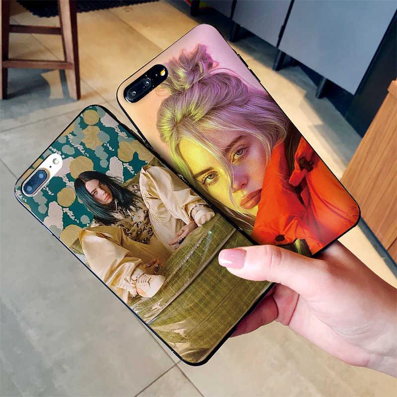 Gorąca Billie Eilish piosenkarka dla iPhone X XR XS MAX, miękkie silikonowe tylna pokrywa dla Apple iPhone 8 7 6 S 6 S Plus etui na telefon
