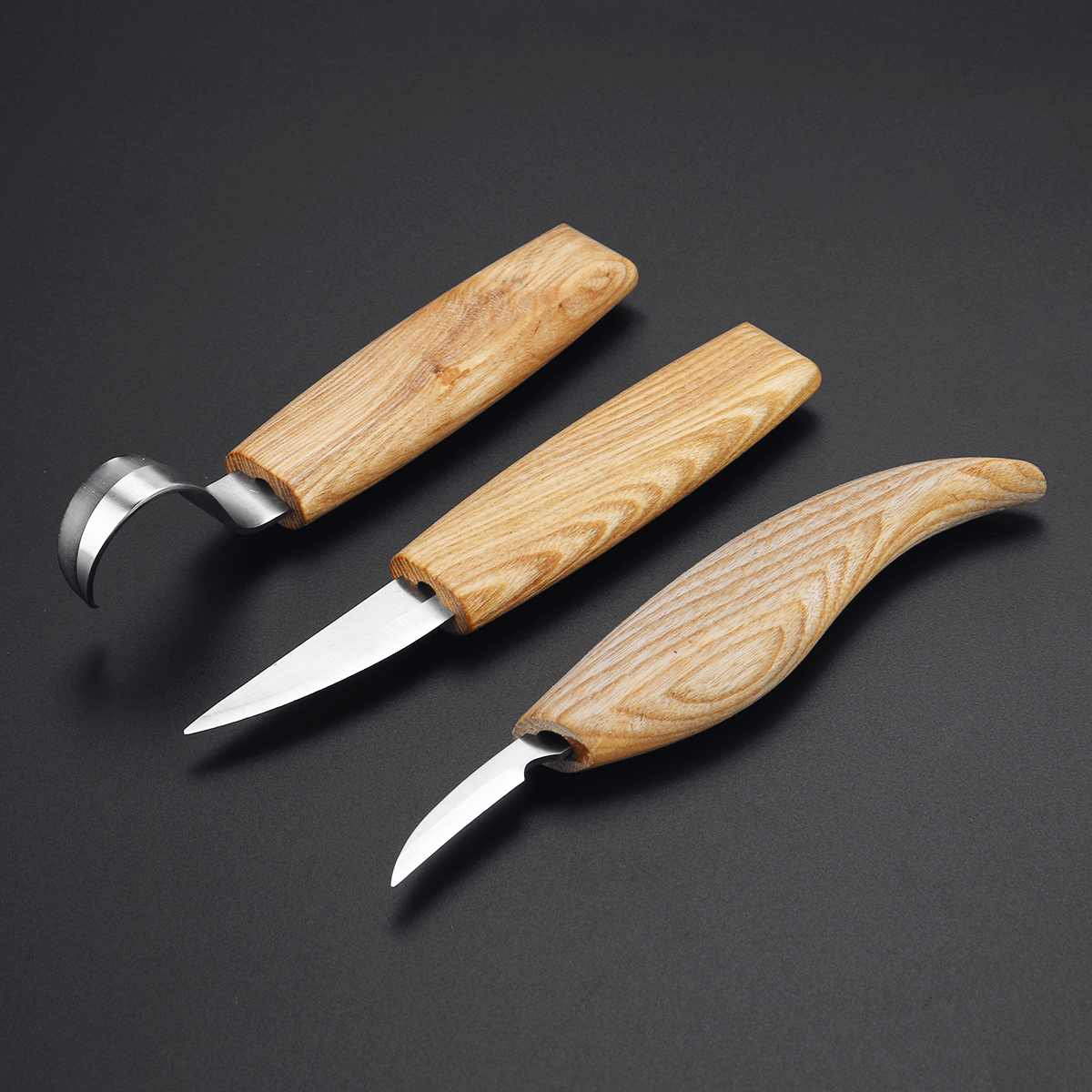 3pcs Woodcarving Cutter Woodwork Carving Knives Set Sculptural DIY Spoon Carving Knives Tool Whittling Beaver Craft