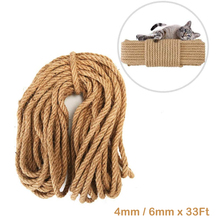 Cat Sisal Rope Natural Twine for Scratching Post Tree Replacement - Hemp Rope for Repairing, Recovering or DIY Scratcher 6mm cat tree with sisal scratching post 95 cm