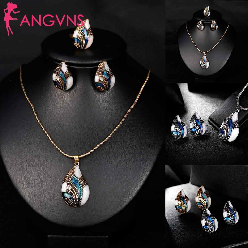 Feminino casual oco forma geométrica strass conjunto de jóias orelha fivela 5 m/2 polegada pingente colares