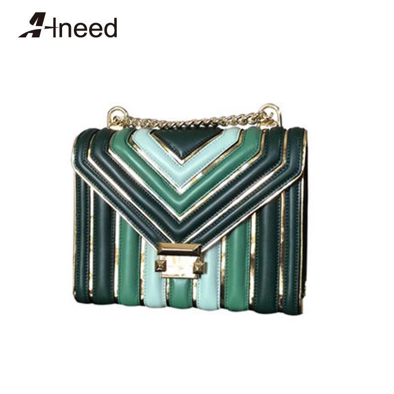 ALNEED роскошные сумки женские сумки дизайнерские 2019 натуральная кожа известный бренд сумки на плечо цепи женские сумки через плечо сумочка