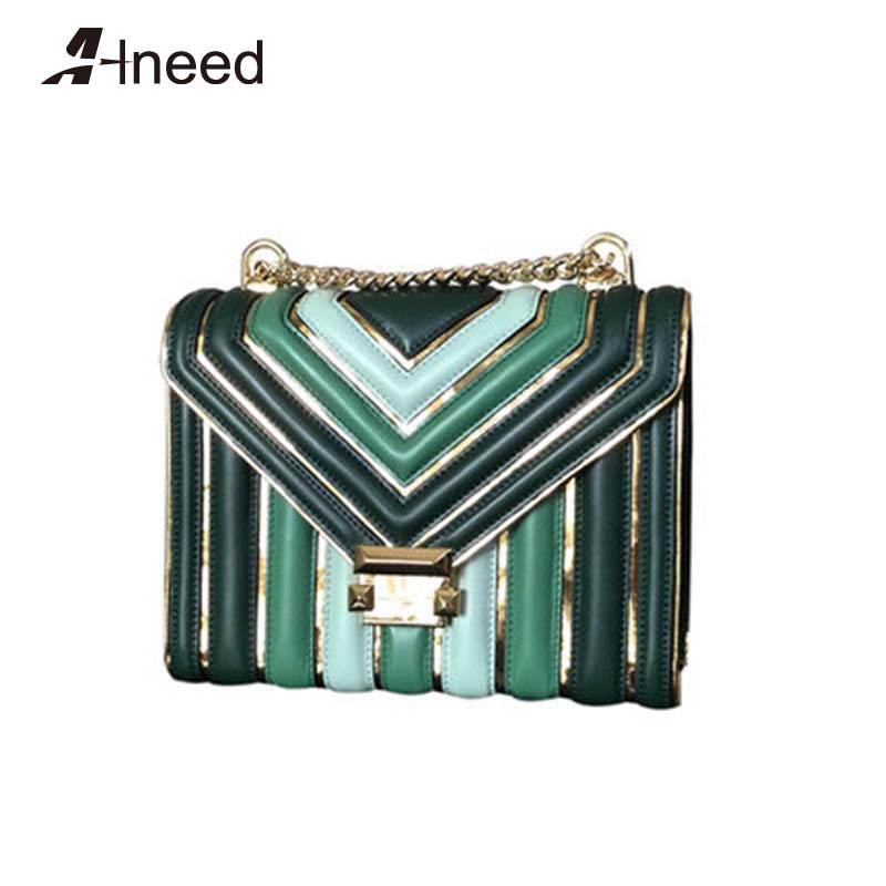ALNEED Luxury Handbags Women Bags Designer 2019 Genuine Leather Famous Brand Shoulder Bags Chain Ladies Crossbody Bags Purse