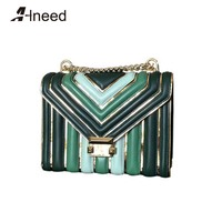 ALNEED Luxury Handbags Women Bags Designer 2019 Genuine Leather Famous Brand Shoulder Bags Chain Ladies Crossbody Bags Purse