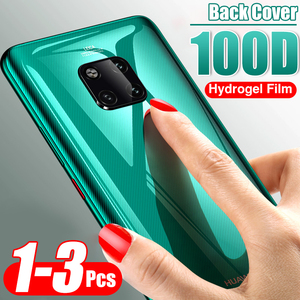 3-1Pcs 100D Back Cover Hydrogel Film For Huawei Mate 30 20 Pro P20 lite Soft Protector Film P30 Rear Protective Film Not Glass()