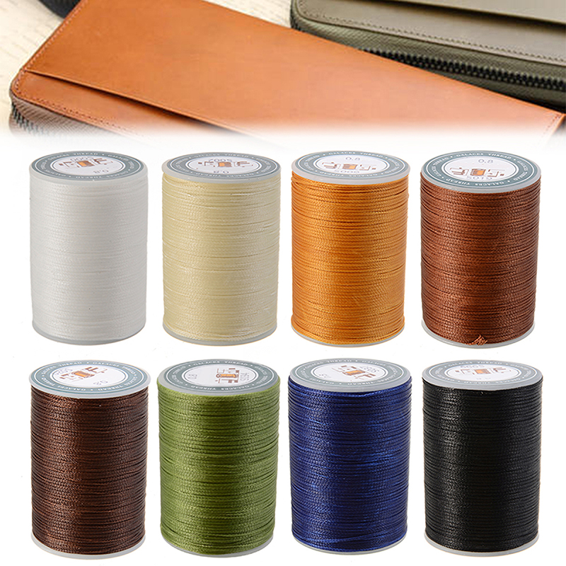 0.8mm Waxed Thread Repair Cord String Sewing Leather Hand Wax Stitching DIY Thre