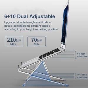 Image 3 - Suporte do portátil ajustável suporte para notebook mackbook pro base de computador ar riser portátil portátil suporte de refrigeração