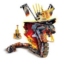 Fire Fang Spinjitzu Snake Bugs Building Blocks Compatible Ninjagoed 70674 Kit Bricks Classic Movie Model Kids Toys for Gift