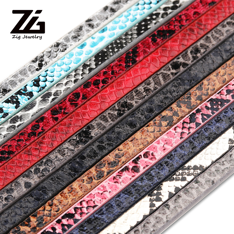 1.2 Meter PU Leather Cord Imatate Snake Python Skin Rough Surface String DIY Craft Jewelry Finding Bracelet