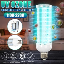 E27 60W Ultraviolet UV Light Tube Bulb Disinfection Lamp Ozone Sterilization Mites Lights Home Germicidal Lamp Bulb