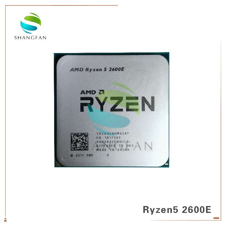 AMD Ryzen 5 2600E R5 2600E 3.1 GHz Six-Core Twelve-Core 45W CPU Processor YD260EBHM6IAF  Socket AM4