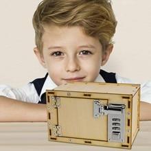 Самодельный механический сейф с паролем, модель, наборы, копилка для детей, товары для научно-технических проектов, подарки на день рождения, год