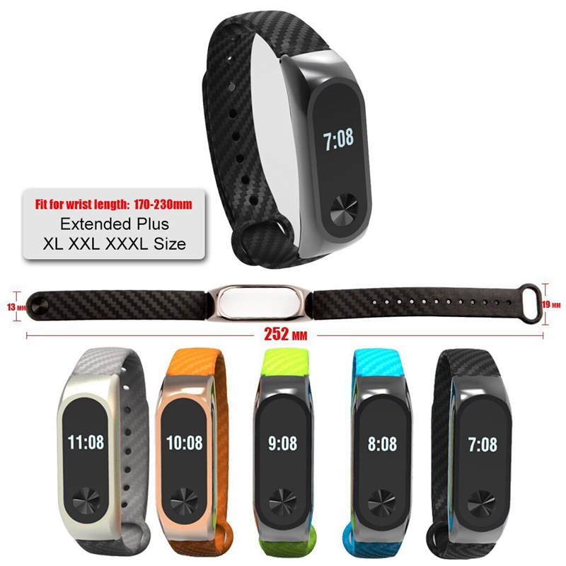 Ollivan Silicone Carbon Fiber Strap For Xiaomi Mi Band 2 Wristband Smart Accessories For Mi Band 2 Bracelet Miband 2 Wrist Strap